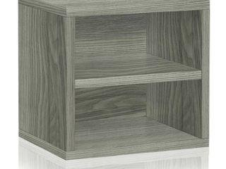 Way Basics Connect Cube with Shelf   Grey Set of 3