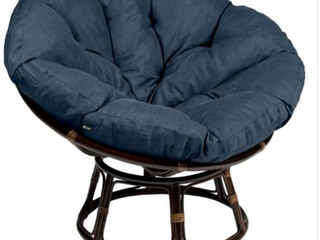 Montlake 52 in  Dia Heather Indigo Water Resistant Outdoor Papasan Cushion
