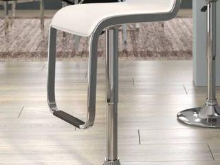 Emmett Adjustable Height Swivel Bar Stool White Set of 2