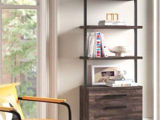Zachary 73  H x 24  W Metal ladder Bookcase