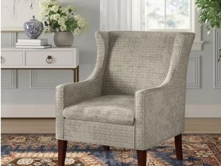 Matherville Wingback Chair in Mushroom
