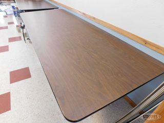 2 Folding wood tables 1 jpg