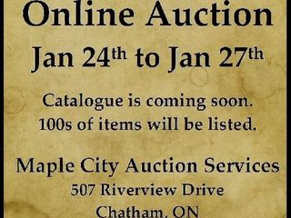 Exciting Online Auction Starts January 24 at 4pm