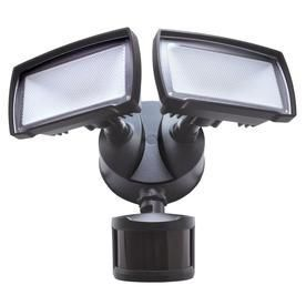 Good Earth lighting 180 Degree 2 Head Bronze lED Motion Activated Flood light with Timer