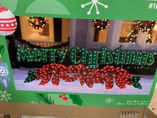 Holiday lighted holiday sign 6 ft lights  tested works great