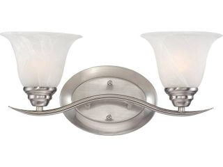 Volume lighting Trinidad 2 light brushed nickel bathroom vanity