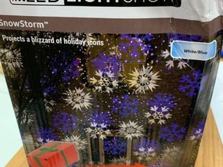 lightshow swirling white blue snowflakes Christmas indoor outdoor light show projector  tested works
