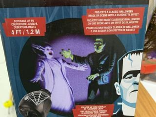 lightshow Projection Universal Monsters Silhouette led Spotlight Halloween  tested works
