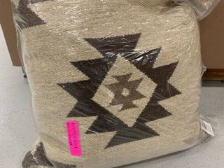 Rizzy Home beige 22x22 southwestern pillow