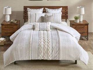 The Curated Nomad Clementina Cotton Printed Chenille Comforter Set Retail 117 99