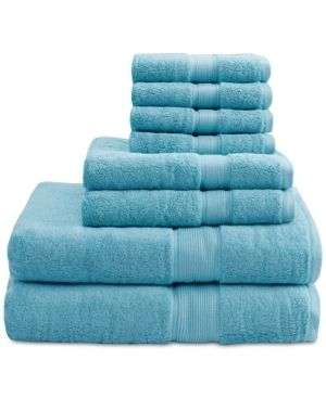 Signature Madison Park 8pc Towel Set Aqua