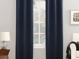 108 x40  Kenneth Energy Saving Blackout Grommet Top Curtain Panel Navy   Sun Zero