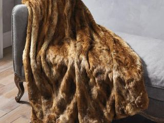 Faux Mountain coyote handmade luxury throw