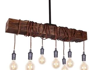 Farmhouse distressed wood chandelier
