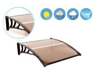 MCombo 40x40  tan outdoor polycarbonate window awning  Has some creases  see photos