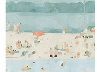 Emma Scarvey Seaglass Sandbar II canvas 14x14
