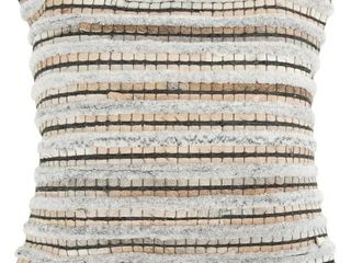 Rizzy Home Stripe Natural Beige Donny Osmond Home Pillow Case 20 x20