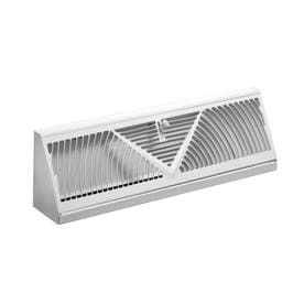 Accord ABBBWH24 Baseboard Register with Sunburst Design  24 Inch Duct Opening Measurement  White