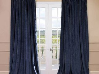 Eff Signature Velvet Double Wide Blackout Window Curtain