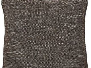 Melvyn Contemporary Tweed Brown Pillow