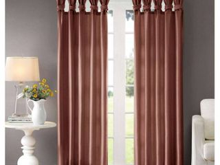 84 x50  lillian Twisted Tab lined light Filtering Curtain Panel red