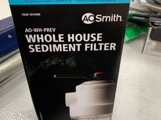 AO smith whole house sediment filter