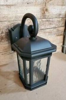 Quoizel Corrigan 10 75 in H Matte Black Medium Base  e 26  Outdoor Wall light