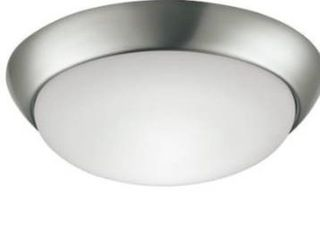 Project Source led Flushmount Ceiling light Fixture Brushed Nickel Finish  nib