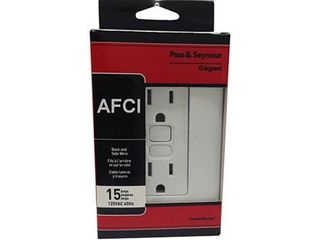 Pass   Seymour 15A WHT AFCI Receptacle 4 Pack