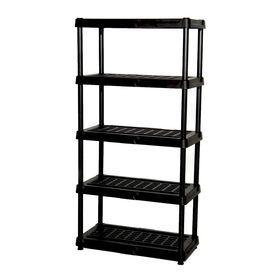 Blue Hawk 72 in H x 36 in W x 18 in D 5 Tier Plastic Freestanding Shelving Unit
