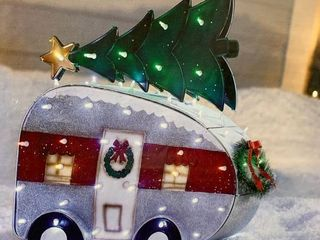 Holiday living lighted camper   tested works when plugged in