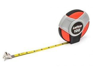 lufkin ST100 3 8  x 30m 100  Closed Reel SAE Metric Yellow Clad Steel long Tape Measure