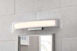 Allen and Roth 4 light chrome modern contemporary vanity light