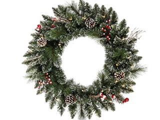 Snowed Berry Wreath 24in x 24in