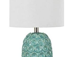liv 18 5  Ceramic Table lamp  Blue