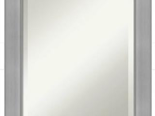 Vista Brushed Nickel Finish Bathroom Vanity Mirror 22in x 30in