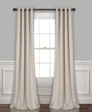 lush Decor 52  x 108  Blackout Curtain Set