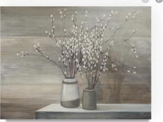 Canvas Willow Still life Gray Pots