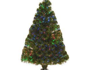 Fiber Optic Ice Pre lit Full Christmas Tree
