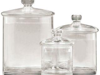 Gls Jar Set Of 3 9 Inch 7 Inch 5 Inch H