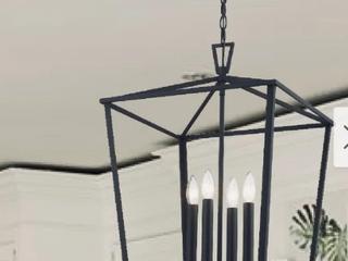 The Gray Barn Katrina Hill Kitchen Island lantern Rustic Black Finish Retail 158 49
