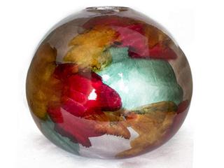 Gem Foiled   lacquered Ceramic Spherical Table Vase