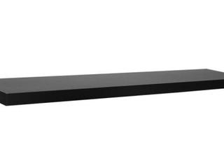 Modern Ebony Wall Shelf 36x7 75