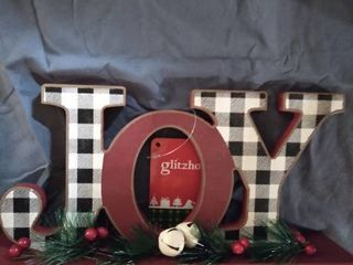 Glitzhome  Wooden   Joy   Christmas Decor