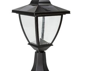 Classy Caps Black Elegante Black Aluminum Solar lamp Retail 87 99