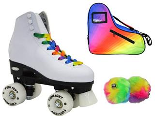 Epic Allure Twilight Rainbow lED light Skates