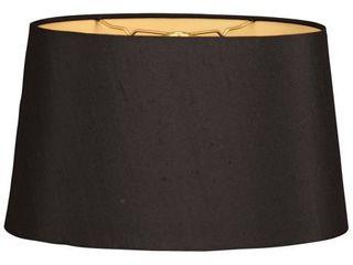 Royal Designs Shallow Oval Hardback lamp Shade  Black  10 x 12 x 7