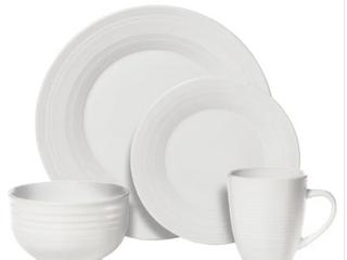 Sierra 16 Piece White Dinnerware Set