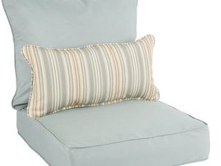 Oakley Sunbrella Solid Indoor  Outdoor Corded Pillow and Chair Cushion Set  Retail 149 99