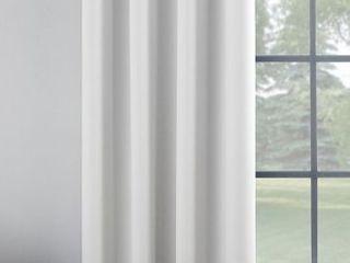 63 x52  Oslo Theater Grade Extreme Blackout Grommet Top Curtain Panel White   Sun Zero